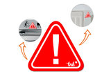 Burn Alert - Heat warning magneet_