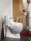 Hi Loo toiletverhoger vast met armleuning_